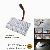 12 LED-es, 25x40mm-es, Adapteres LED Panel